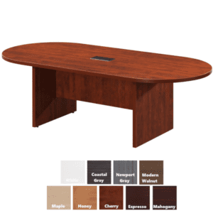 "AW Office Furniture - 95""W Oval Shaped Conference Table - Cherry"