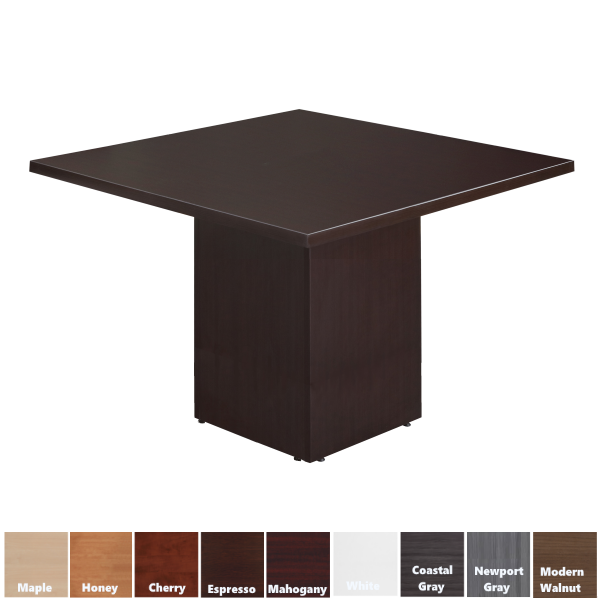 Cube Base Square Table - Office Furniture Source