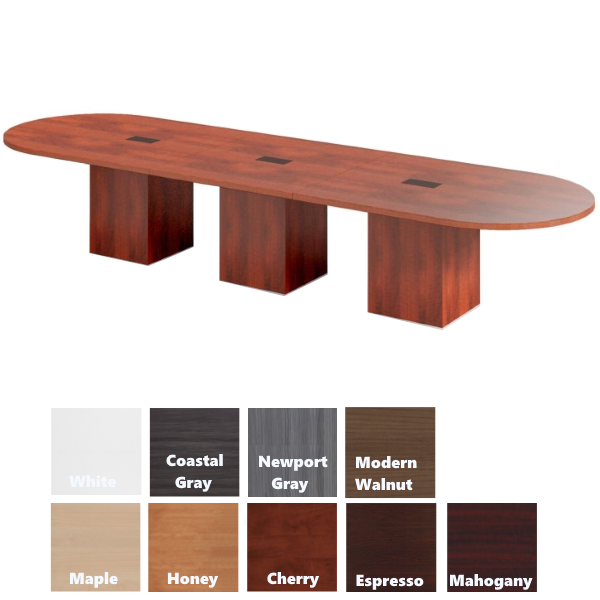 Cube Base Modular Oval Conference table