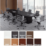 Boat Shaped Expandable Conference Table