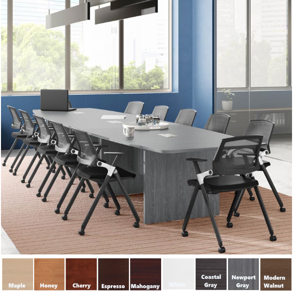18' or 20' Boat Shape Conference Table