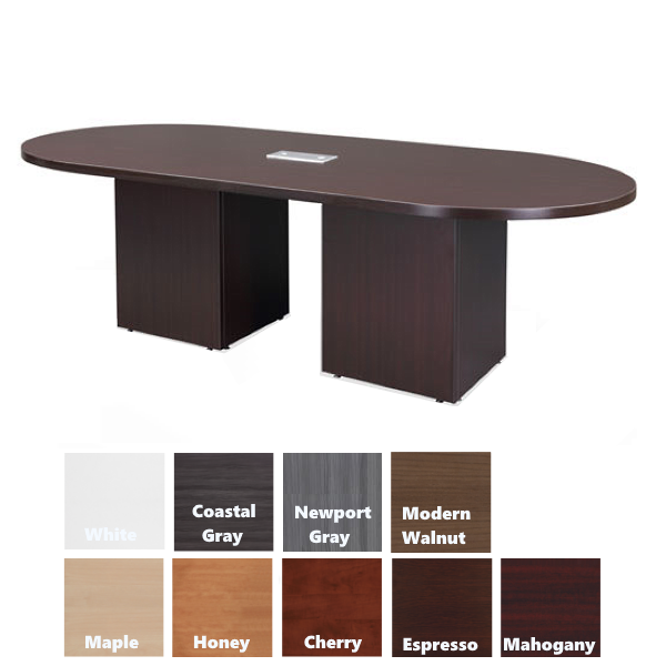 Oval Shape table with cube bases