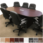 PL136 Oval Racetrack Conference Table