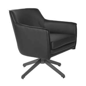 Black Barrel Shaped Chair