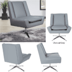 Side View Charcoal Gray Chair
