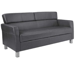 3 person pewter sofa