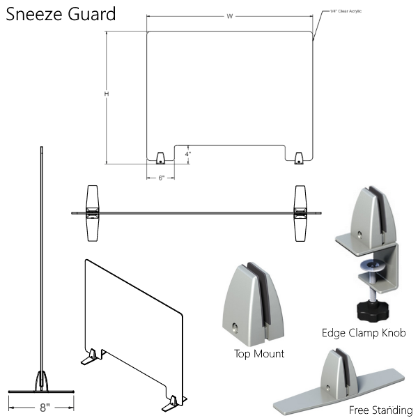 Mergeworks Sneeze Guard Panel