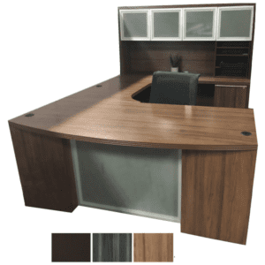 Dual Curve Bridge U Desk