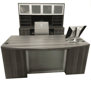Desk Credenza Hutch Set - Status Series