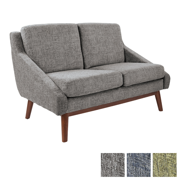 Loveseat in Charcoal Fabric