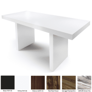 White Standing Communal Table