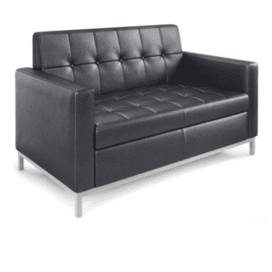 Loveseat - Black Tufted Vinyl