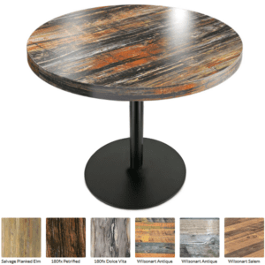 Thick top round table