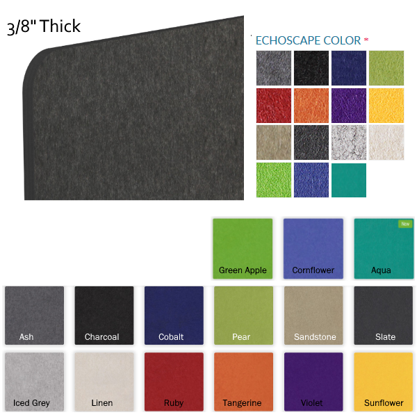 Mergeworks Acoustical Material 3-8 material - 15 Colors - Felt Material - AW Office Furniture