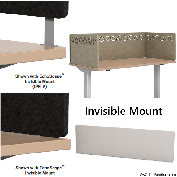 Privacy Desk Panels with Invisible Steel Mount Hardware
