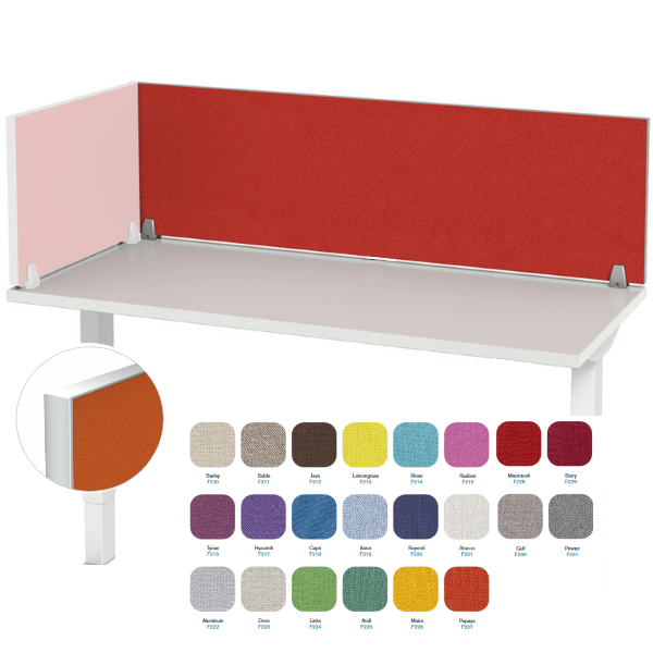 Fabric Metal Trim Panels for Desk