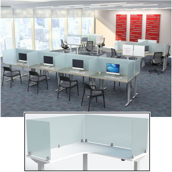 Wing Privacy Dividers for Social Distancing in Office