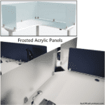 Social Distancing Frosted or Clear Acrylic Privacy Screens for Office