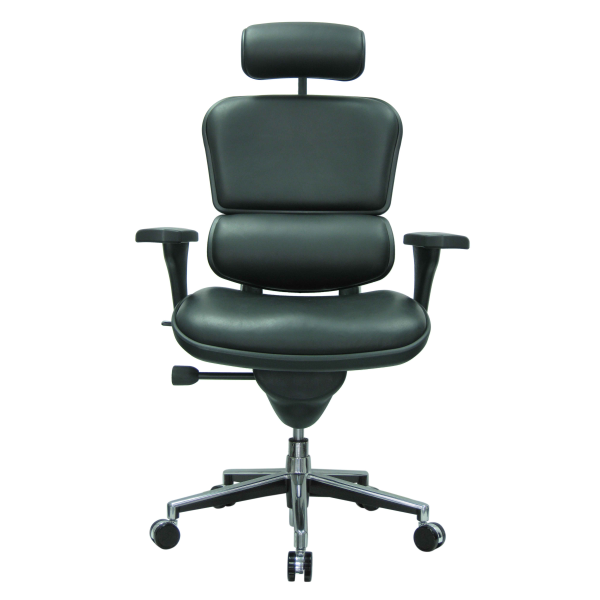 Ergo Human Black Leather High Back Executive Chair - AW Office Furniture