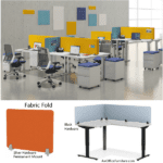 Fabric Fold Desk Panels