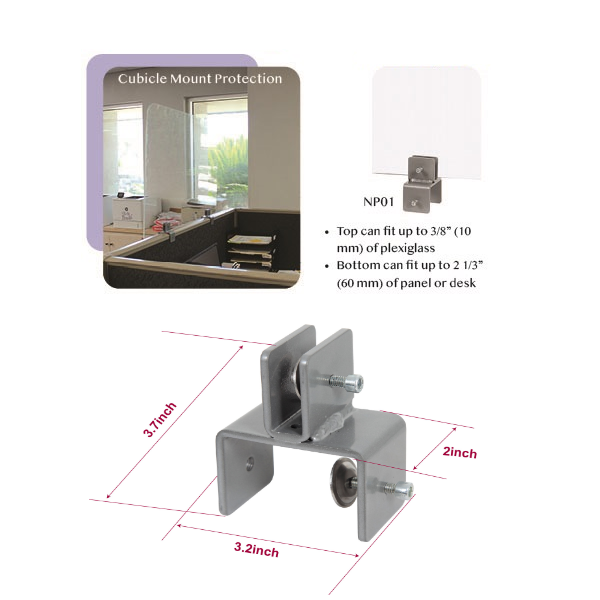 Dimensions for mounting brackets
