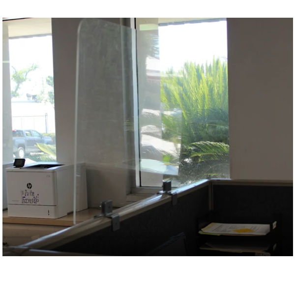 Clear plexiglass cubicle screens