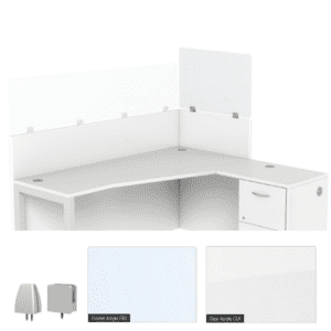 """Cubicle privacy screens - extra tall 24"""" or 30""""H"""