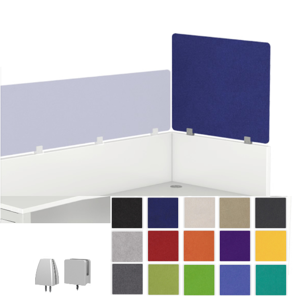 Stackers Echoscape Acoustical Cubicle Height Extender Privacy Tall Thinscape Extenders