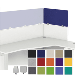 Stackers Echoscape Acoustical Cubicle Height Extender Privacy Wing Panel