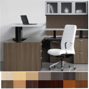 Canvas Height Adjustable L-Shaped Desk with Adjustable Height Right Return - Dallas Texas