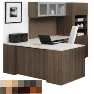 Indiana Canvas Step Front L-Shaped Executive Desk
