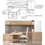 Indiana Canvas Typical 66-9 - Open Wall Open Executive L-Shaped Executive Wall Workstation - Contract Furniture