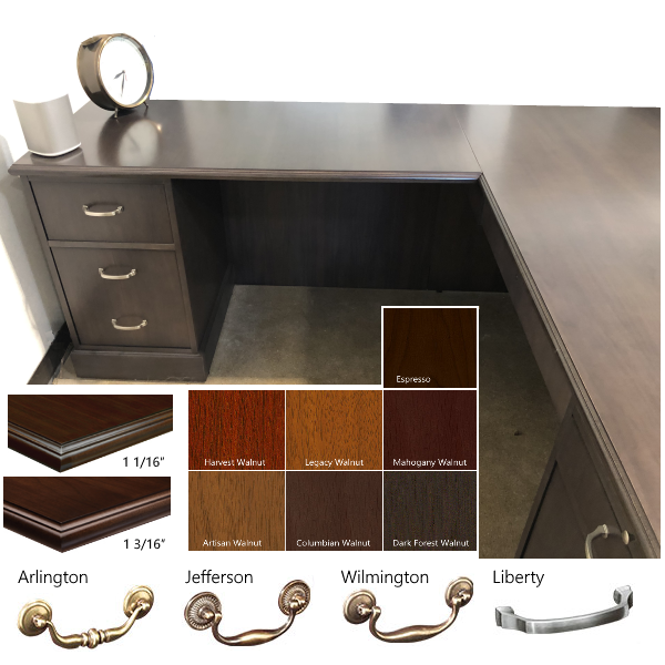 Hardware and Finishes for Jefferson Desk