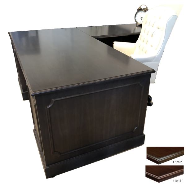 Indiana Jefferson Wooden Executive Desk