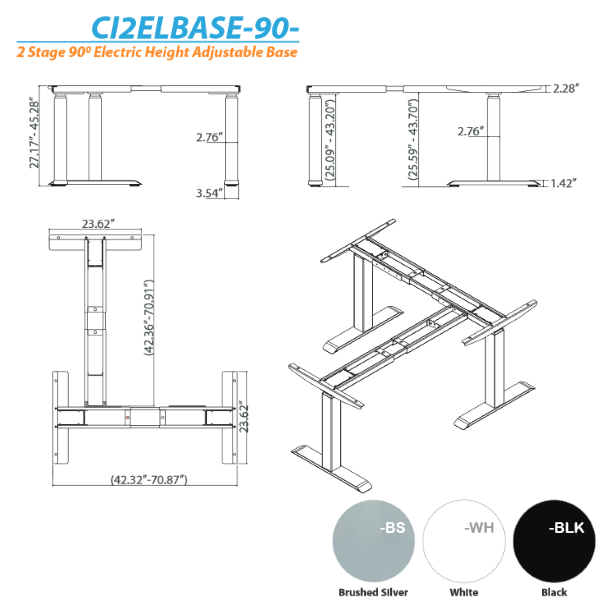 2D 3D Height Adjustable Base