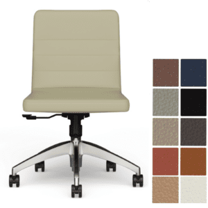 9to5 Seating Armless Diddy Swivel Guest Reception Chair with Aluminum 5-Star Base - Armless Model