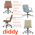 9to5 Diddy Swivel Chair Statement of Line