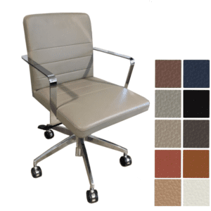 9to5 Seating Diddy Swivel Guest Reception Chair with Aluminum 5-Star Base - Grade A B Textiles