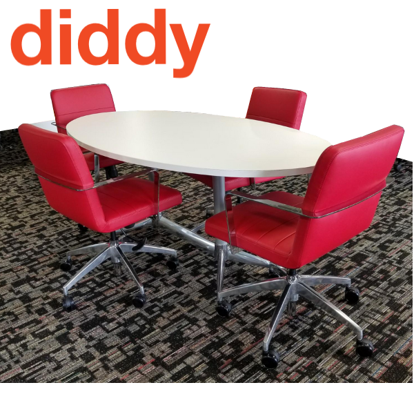 9 to 5 Diddy Chairs in Red Vinyl Leather