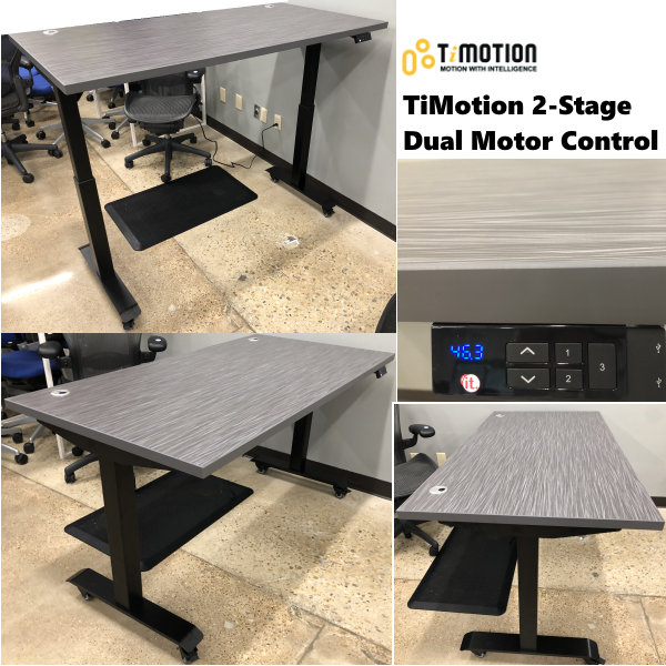 TiMotion 2-Stage Mobile Standing Desk