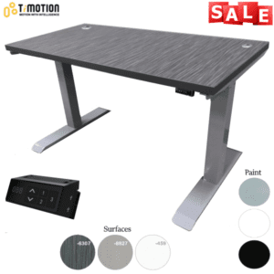"60""W Height Adjustable Desk - OFD TiMotion Dual Motor Base"