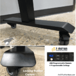 Rubber Casters for Height Adjustable Table - Mobile Standing Table