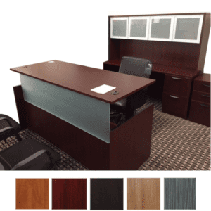 Ultra Series Height Adjustable Case Desk Credenza & Hutch