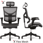 X1 Mesh Headrest Chair - Front and Side Views