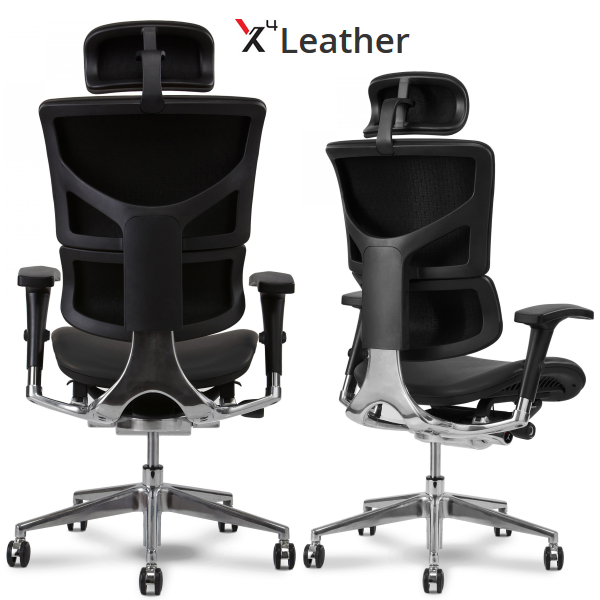 X4 High Back Black Leather Chair XChair