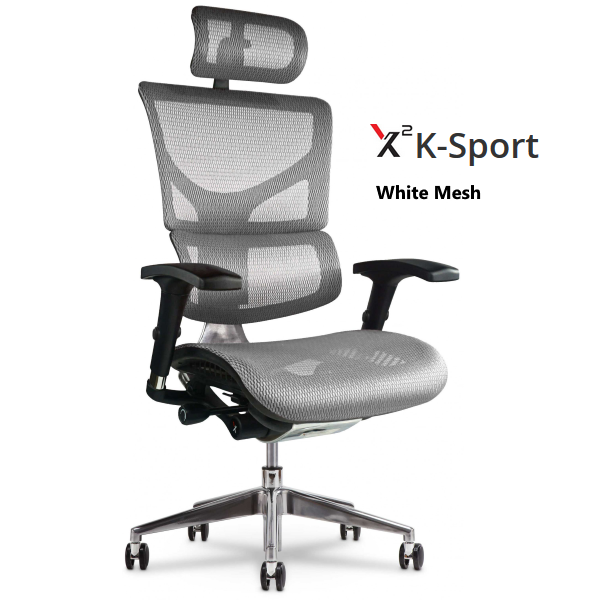 X2 Chair with White Mesh Headrest