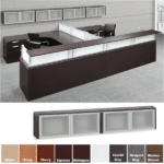 Borders PL208OH 44GSD Reception Desk & Wall Mount Hutch