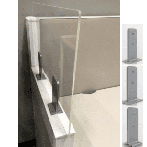 Enwork Skyline Cubicle Extender Plexiglass Panel Screen