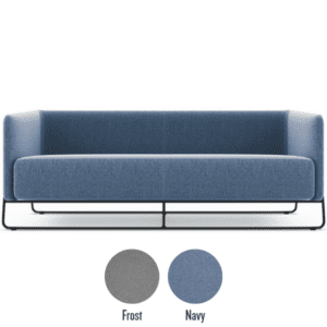 Hanno contemoorary sofa in two fabrics