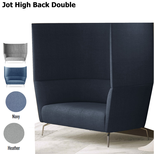 Lounge High Back Two Person Lounge Seat Sofa